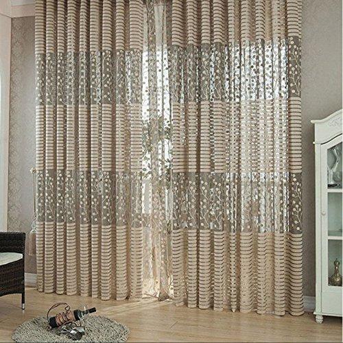 Amazingdeal365 idyllische Voile Gardinen Schal 2 m *1m Set für Schlafzimmer Wohnzimmer Kinderzimmer Balkon Terasse Spielzimmer