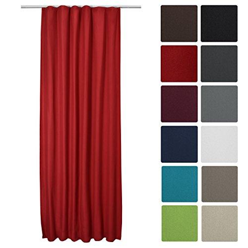 Beautissu Thermo-Vorhang Amelie mit Kräuselband - 140x245 cm - Isolierende Gardine Universalband - diverse Farben