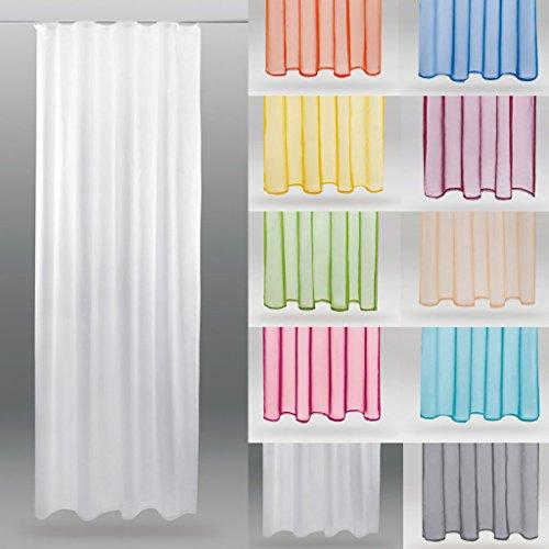 Bestlivings Transparenter Dekoschal Voile mit Universalband b 140x l 245 cm, Elegantes und Stilvolles Wohnaccessoire in Vielen Verschiedenen Farben erhältlich