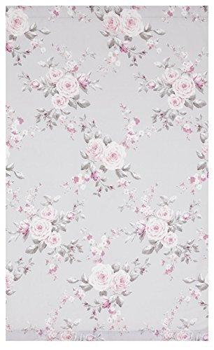 Grau Pink Rose Floral 167,6x 182,9cm 168x 183cm Gefüttert Bleistiftfalten Vorhänge