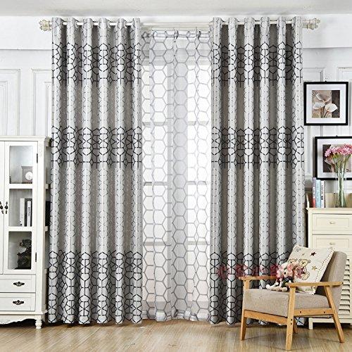 HZH-HZH-Moderne Gardinen und Vorhänge sind verdickt und Im Wohnzimmer (2 Stk Schattiert)