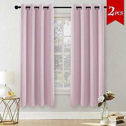 PONY DANCE 2 Stücke Blickdichte Vorhänge Vorhang mit Ösen, Energiespar & Wärmeisolierend, Breite 140cm
