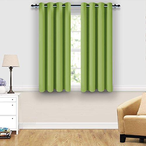 SHARABLE Vorhang blickdicht Verdunklungsvorhänge Blickdichte Vorhang Gardinen Schlaufschal mit Ösen bei Wohnzimmer Schlafzimmer, 2 Stück