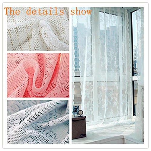 TPulling Warp Stricken Doppelte Spitze Blumen-bloße Vorhang-Tüll-Fensterbehandlungs-Voile Drapieren Volant 1 Platten-Gewebe Vorhänge