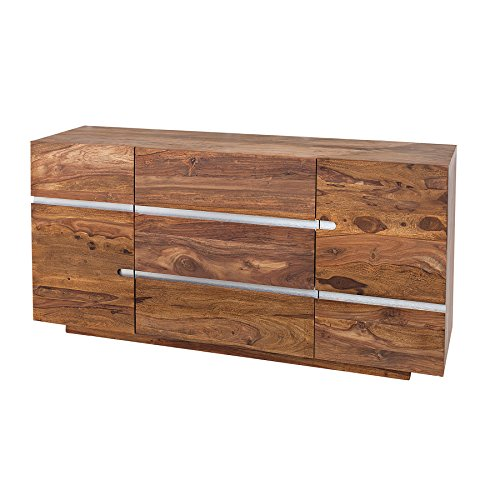 Massives Sideboard FIRE & EARTH II 160cm Sheesham Holz stone finish einzigartige Maserung