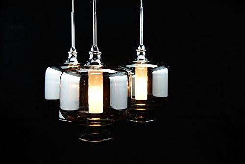Höhenverstellbare LED HÄNGELEUCHTE VITREA chrom/stilvoll und elegant/Blickfang für Ihr Zuhause