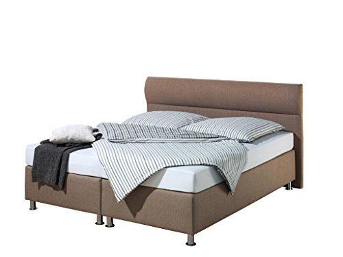 Maintal Boxspringbett Filipo, 140 x 200 cm, Stoff, Tonnentaschenfederkern Matratze h3, Braun
