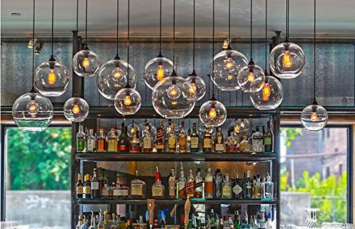 Cozyle Weinlese-Anhänger-hängendes Licht Glas Schatten Grau