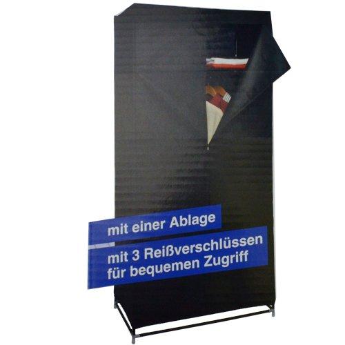 Aufbaubarer Kleiderschrank in Schwarz 75x45x160cm