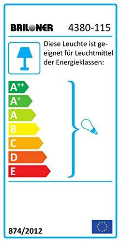 Briloner Leuchten 4380-115 LED Pendellampe, Pendelleuchte, retro, Hängeleuchte, Hängelampe, E27, Metall, 60 W, schwarz / gold / matt, 42 x 42 x 130 cm