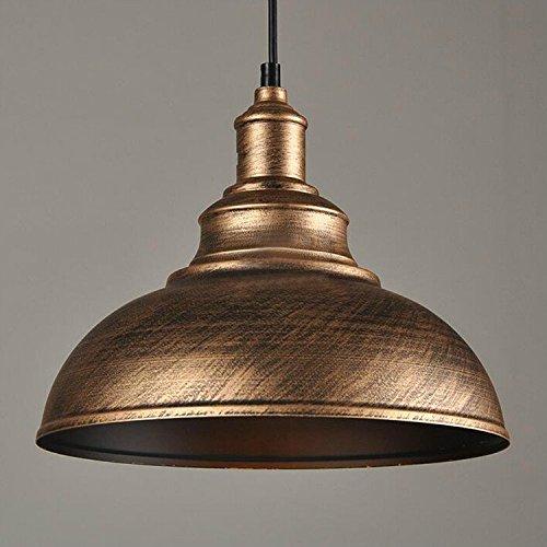 Einkopf Retro Vintage Lampenschirm LED Lampen Hängelampe Hängeleuchte Deckenleuchte Pendelleuchte Edison Industriebeleuchtung Eisen Schwarz Bronze Silver