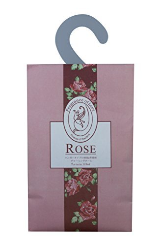 Frandy House Scented Sachet for Drawer and Closet with hook, pack of 3 (rose)
