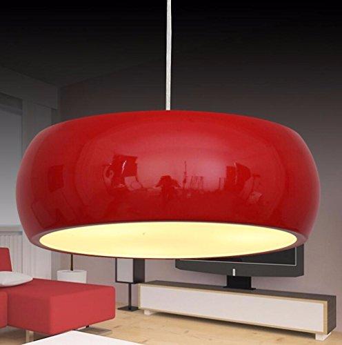 GZLIGHT Hängeleuchte Kronleuchter Deckenlampe runde Restaurants und Büros und Schlafzimmer Rot 35cm