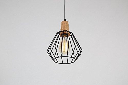 Glighone Industrie Pendelleuchte Vintage Hängelampe Retro Hängeleuchte Landhausstil Drahtkäfig Cage für E27 Leuchtmittel