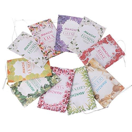 HERGON Lufterfrischer Lavendel Getrocknete Blumen Lanyard Papier Beutel Bag, Reinigung Supplie für Kleiderschrank , Schlafzimmer Dekoration