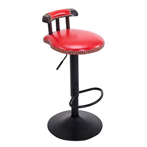 JCRNJSB Barhocker, American Iron Art Bar Vintage Stuhl Lift Haushalt Drehstuhl Hoher Hocker Kann Gedreht Werden, einfach (Farbe : #7)