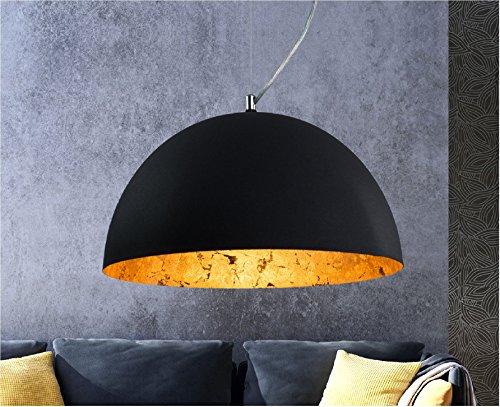 Luxus Hängelampe | Hängeleuchte Studio | Retro | Vintage | Used look | Deckenlampe | Gold | Industrial | Lounge | Wohnzimmer | Esszimmer | Schlafzimmer | dimmbar | LED geeignet |1x E27 Fassung
