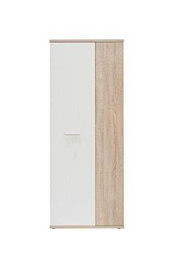 NEWFACE  Mehrzweckschrank, Holz, Sonoma Eiche Dekor + Weiß, 68.90 x 34.79 x 179.1 cm