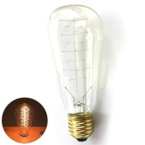 Newin Star Edison Glühbirne E27 Retro Glühlampe 220V / 40W Ideal für Weihnachten und Antik Beleuchtung Warmweiß
