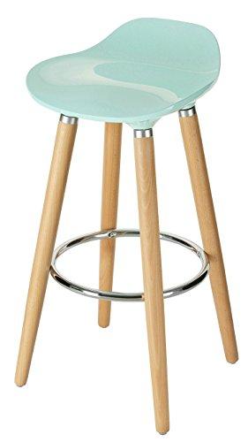 Orolay Mordernes Design Barhocker Barstuhl Hocker Tresenhocker Küchenstuhl 38x38x80cm (Blau)