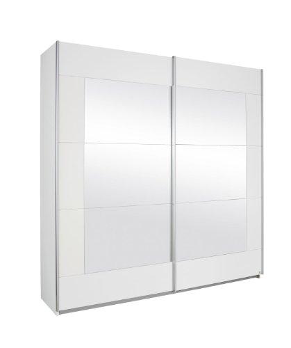 Rauch Schwebetürenschrank Weiß mit Spiegel 2-türig, BxHxT 226x210x62 cm