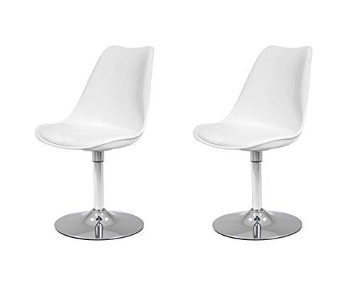 Tenzo 2er- Set Stühle, Kunststoff, Weiss, 51 x 48,5 x 83 cm