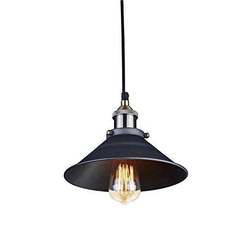 Vintage Retro Edison Loft Pendelleuchte, CMYK Retro Industrielle Deckenleuchte Lackiertem Eisen Regenschirm Lampenschirm