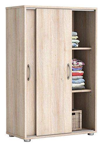 Wäscheschrank Selina Akazie 2 Türen B 68 cm H 106 cm Jugendzimmer Schlafzimmer Kinderzimmer Schrank Schiebetürenschrank Holzschrank Kleidersch