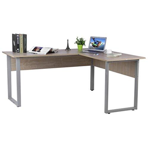Blackpoolal 160 x 140 x 74cm Schreibtisch L-Form Eckschreibtische Eckcomputertisch Computerschreibtisch Eckschreibtisch Bürotisch Holz Computertisch Winkelkombination Tisch