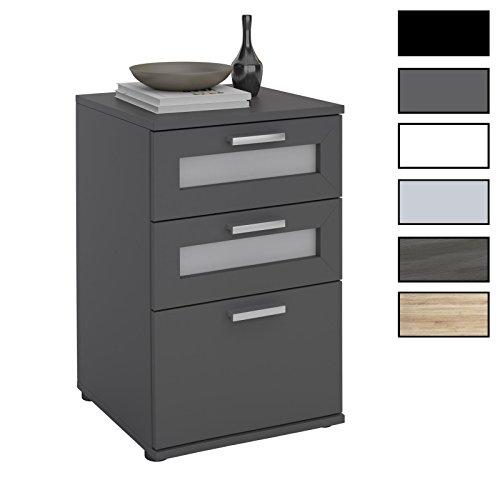 CARO-Möbel Nachttisch für Boxspringbetten MARIKE Nachtschrank Nachtkommode in Verschiedenen Farben, mit 3 Schubladen