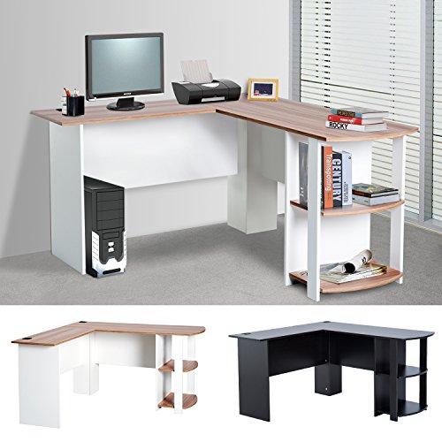 Eckschreibtisch Schreibtisch Computertisch Winkel Staufach Büro L136 x B130 x H72cm