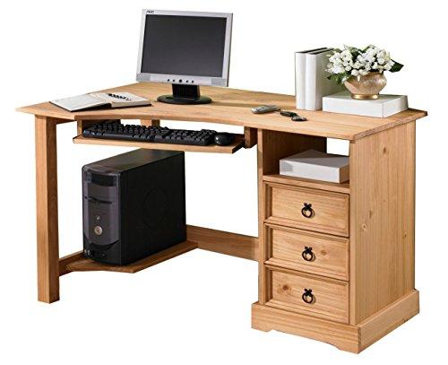 Eckschreibtisch Schreibtisch Mexico Computertisch Pinie Massivholz Tisch