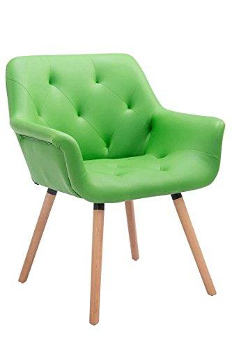Besucherstuhl, Konferenzstuhl, Wartezimmerstuhl, Esszimmerstuhl, Küchenstuhl, Wohnzimmerstuhl, Wartestuhl, Messestuhl Materiealmix natura/grün #Cassidy