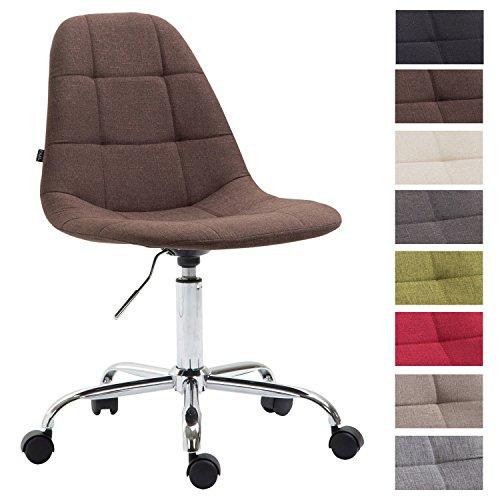 CLP Bürostuhl Reims mit Stoffbezug | Schreibtischstuhl mit gestepptem Sitz | Höhenverstellbarer Arbeitsstuhl mit Metallgestell | In Verschiedenen Farben erhältlich