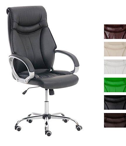CLP Bürostuhl TORRO mit Kunstlederbezug und Hochwertiger Polsterung | Ergonomischer Bürosessel mit höhenverstellbarer Sitzhöhe | Drehstuhl mit Rückenlehne | In Verschiedenen Farben erhältlich