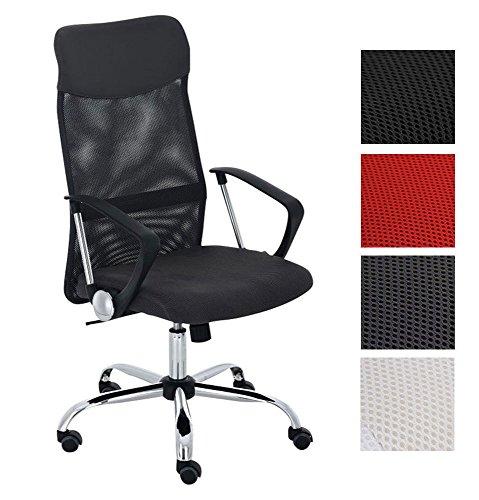CLP Bürostuhl Washington V2 l Drehstuhl mit Wippfunktion l Ergonomischer Schreibtischstuhl mit Netzbezug und Metall-Drehkreuz l In verschiedenen Farben erhältlich