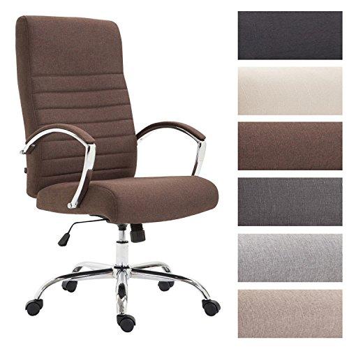 CLP Bürostuhl XL VALAIS mit Stoffbezug, Chefsessel, Drehstuhl mit Armlehnen, Bürodrehstuhl mit hochwertige Polsterung, max. Belastbarkeit 136 kg,