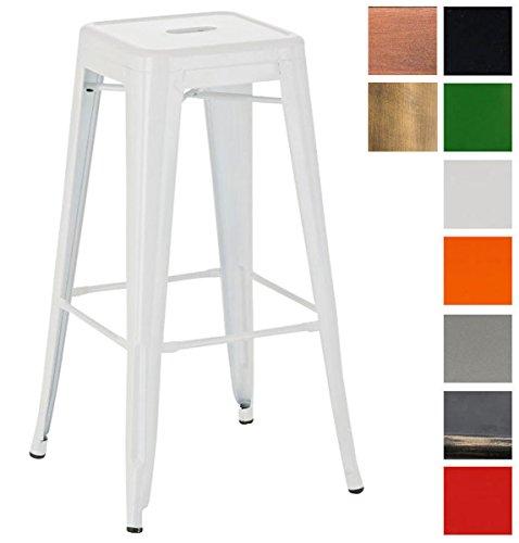 CLP Metall-Barhocker JOSHUA mit Fußstütze I Stapelbarer Tresenhocker mit einer Sitzhöhe von: 77 cm I In verschiedenen Farben erhältlich