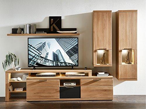 möbelando Wohnwand Schrankwand TV-Wand Anbauwand Mediawand Wohnzimmerwand Bakersfield II