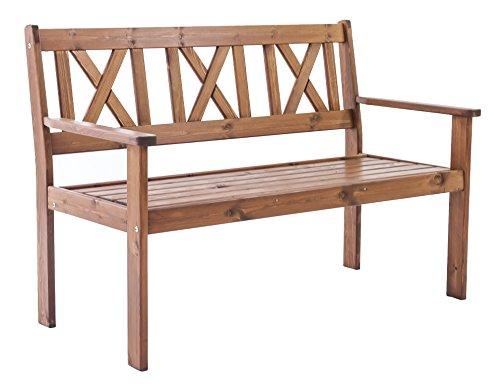 Ambientehome Gartenbank 2-Sitzer Bank Massivholz Holzbank EVJE