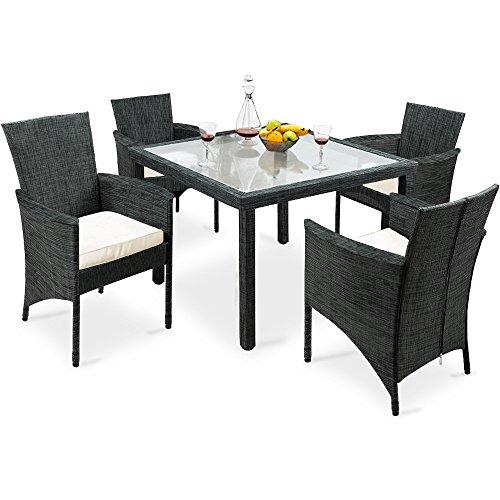 Deuba Sitzgruppe Textil 4+1-8+1 inkl. Sitzauflagen