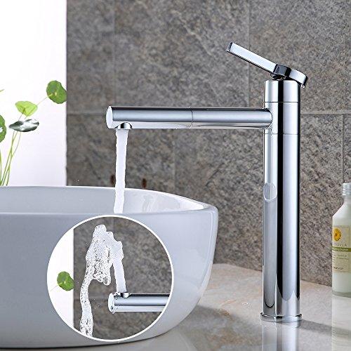 HOMELODY chrom Wasserhahn Bad hoch