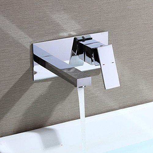Homelody Wasserhahn Bad Armatur Waschbecken Wand Montage Waschtischarmatur
