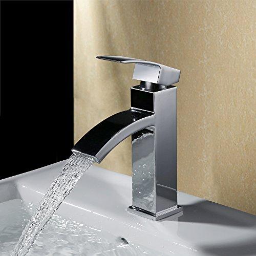 Homelody Wasserhahn Bad Armatur Waschtischarmatur Chrom Waschbeckenarmatur Einhebelmischer Badarmatur Mischbatterie Waschtischbatterie für Badezimmer
