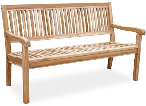 KMH®, Teak 3-sitzer Gartenbank Lea 150 cm (#102147)
