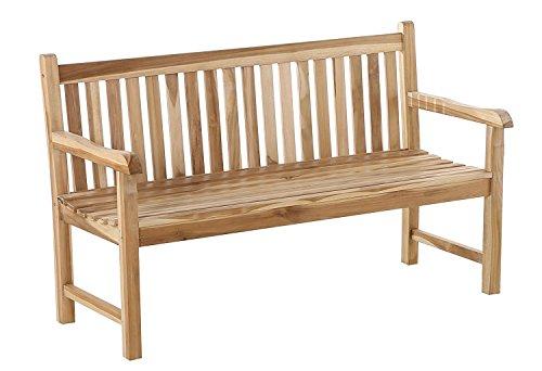 SAM 2-Sitzer Gartenbank Java, 120 cm, Sitzbank aus Teak-Holz, Holzbank für Balkon, Terrasse oder Garten