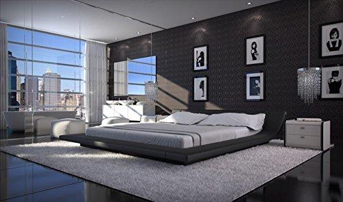 SAM® Polsterbett Custo in Schwarz 200 x 200 cm modernes Design Wasserbett geeignet