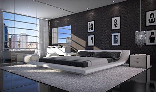 SAM® Polsterbett Custo in Weiß 200 x 200 cm modernes Design Wasserbett geeignet