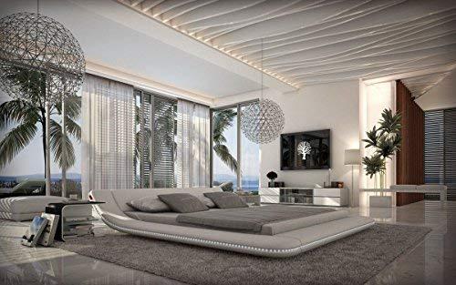 Sofa Dreams Designer Bett Custo Bettgestell mit LED Beleuchtung 180 x 200 cm - 200 x 200 cm - 200 x 220 cm