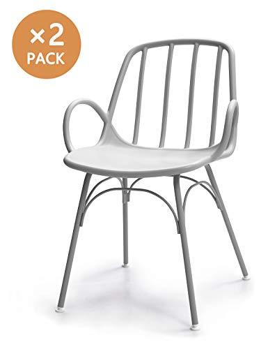 Suhu Stuhl Retro 2er Set Esszimmerstühle Designer Sessel Esstisch Modern Küchenstühle Stapelstuhl Gartenstuhl Loungesessel Vintage Schalenstuhl Plastik Mit Metallfüße Essstuhl